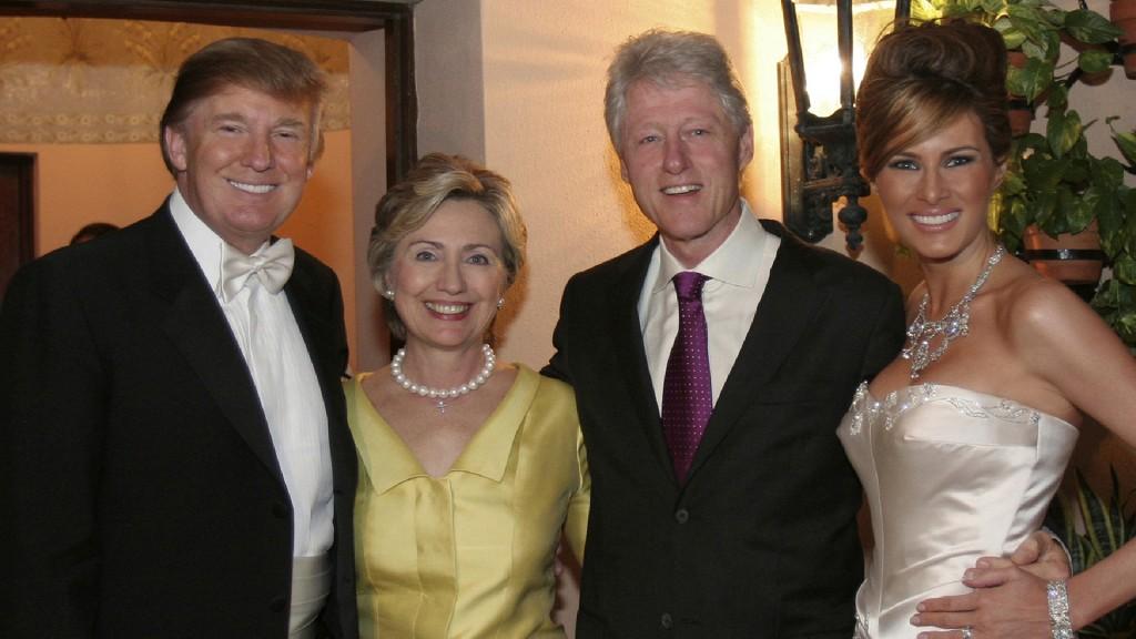 Donald-hillary-bill-melania
